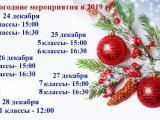 Новогодние мероприятия 2019 г.